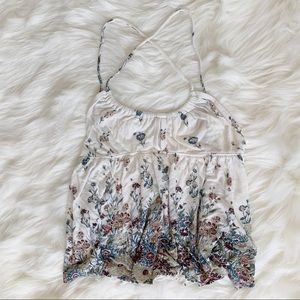 Urban outfitters ecote floral spaghetti strap top